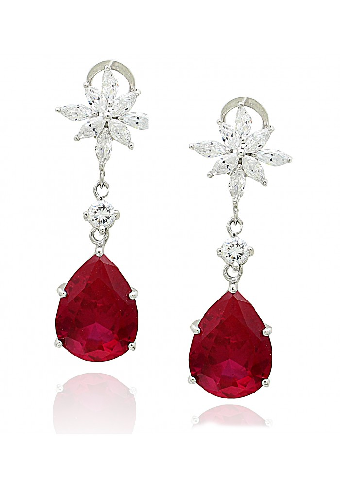 vintage earrings silver on products collections clip luxury red creators ruby sterling