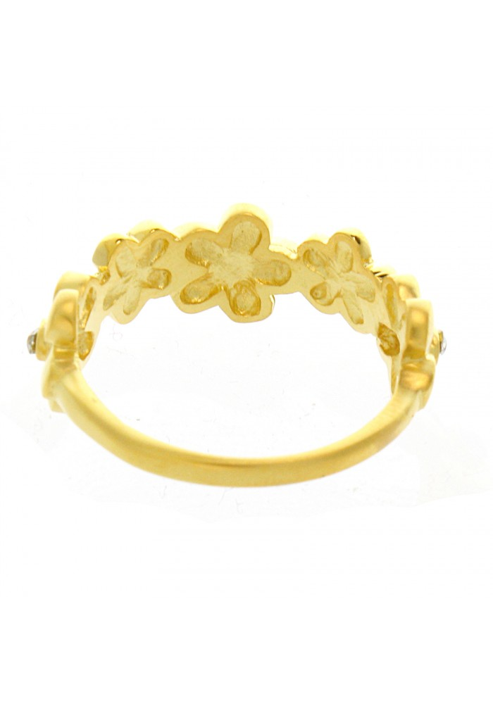 FLOWER GP RING IN BRASS.