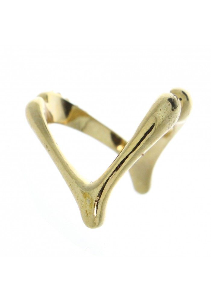 Wish Bone CZ Ring