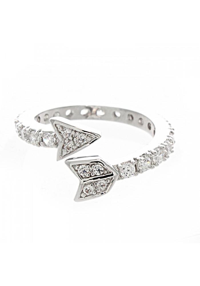 Cz Pave Arrow Ring