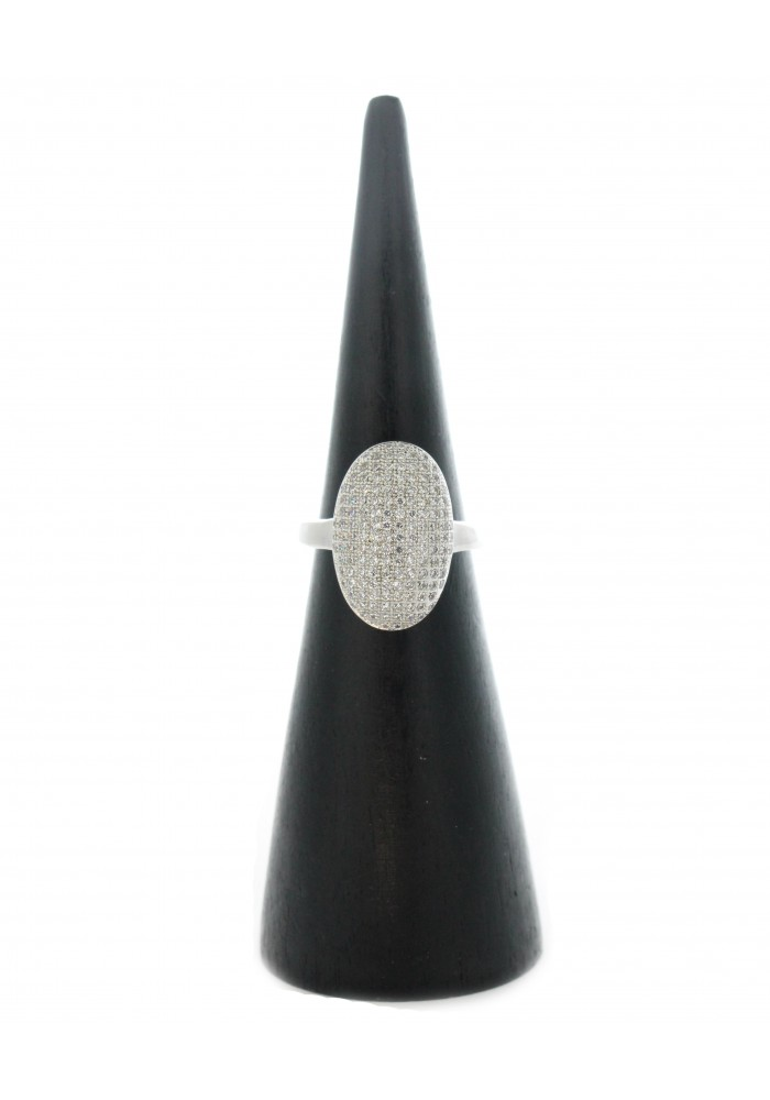 Twilight Oval Pave CZ Ring