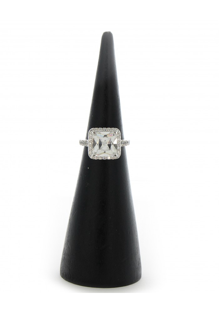 Square Center CZ Ring