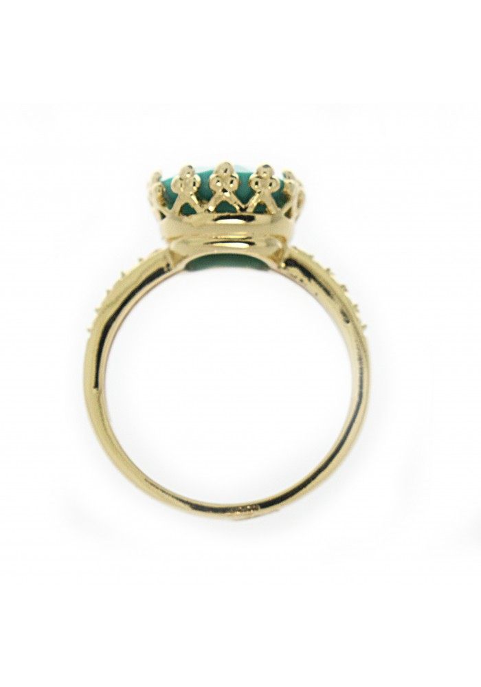 SQUARE FACETED SIM TQ GP CROWN SETTING RING I